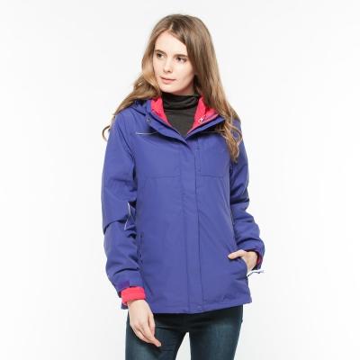 Hang Ten - 女裝 -Thermocontro系列兩件式防潑水保暖連帽外套-紫