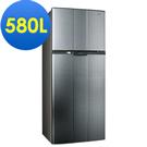 SAMPO 聲寶580L 經典品味雙門冰箱SR-A58G(K3) 漸層銀