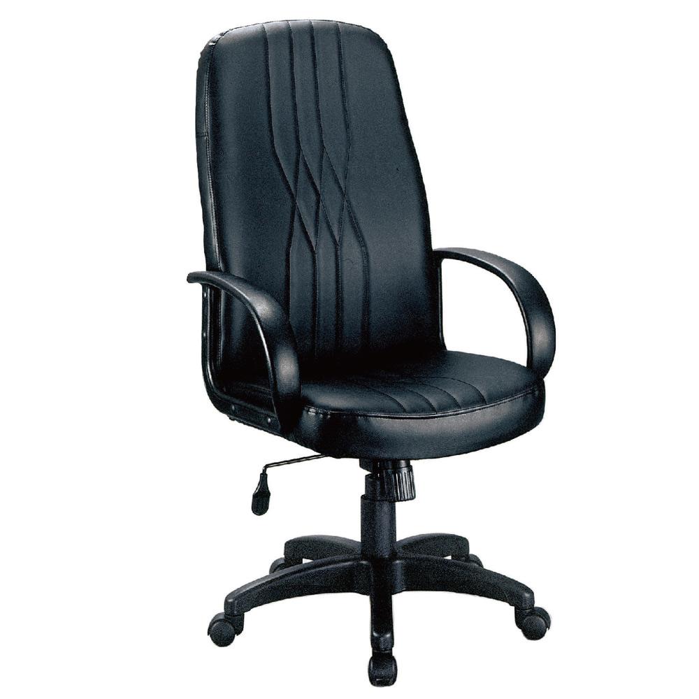 GD綠設家 羅布美皮革低背辦公椅-62x60x108cm免組