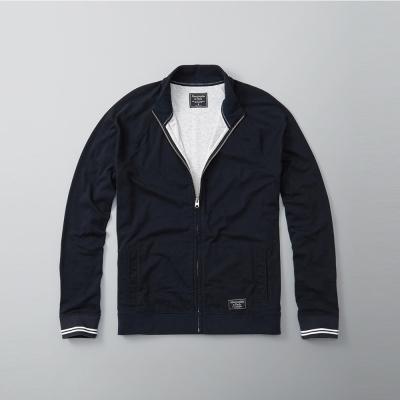 A&F 經典立領夾克外套-深藍色 AF Abercrombie