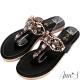 Ann'S凡爾賽花園-頂級光感水鑽夾腳涼鞋-