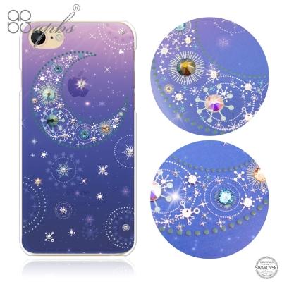 apbs iPhone8/7 4.7吋施華洛世奇彩鑽手機殼-星月透藍