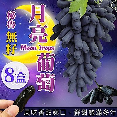 天天果園*秘魯無籽月亮葡萄(每盒500g±10%) x8盒