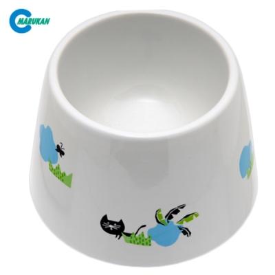 Marukan 加高型 飲水用 陶瓷飯碗 貓用 CT-416