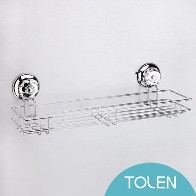 Tolen陶然居-強力無痕吸盤掛勾-Vixo威扣-不鏽鋼大置物架