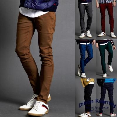 DITION 韓國平輸保暖刷毛 超彈力合身工作褲 有加大尺碼