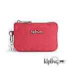 Kipling 零錢包 紋路質感蘋果紅-小