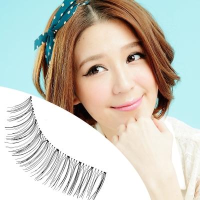 【Beauty美姬風彩 假睫毛】日系透明梗 自然纖長★大眼 09 ★附膠