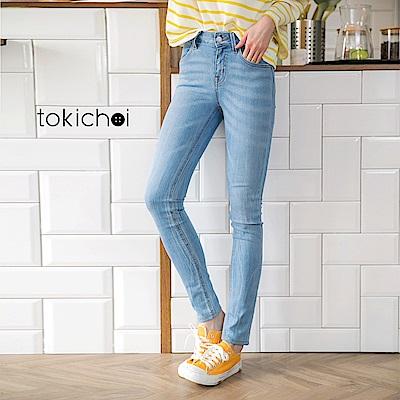 東京著衣-口袋刺繡牛仔褲