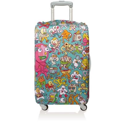 LOQI 行李箱套│漫畫【L 號】適用28吋以上行李箱