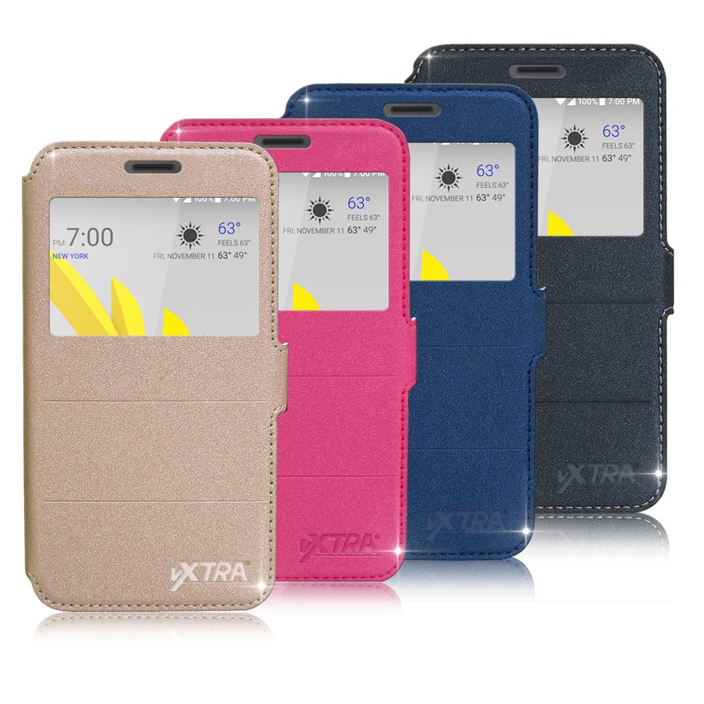 VXTRA HTC 10 EVO 5.5 吋 經典金莎紋 商務視窗皮套