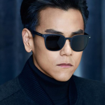 HUGO BOSS太陽眼鏡 質感方框款/藍#HB0936S RCTIR