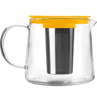 IBILI 玻璃濾茶壺(黃 1500 ml)