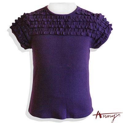 Anny滿滿荷葉公主袖上衣*2295紫