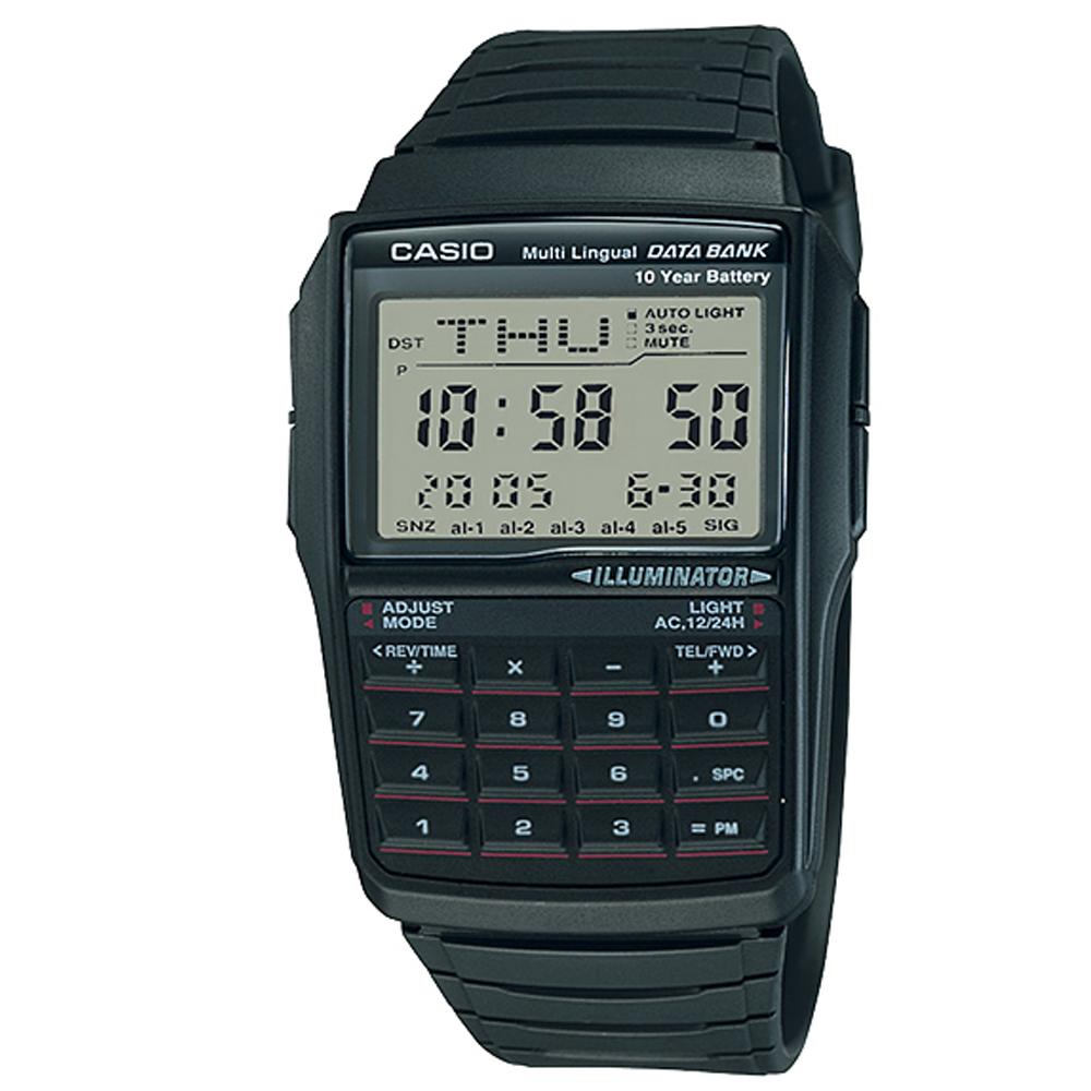 CASIO 行動祕書8位元計算機錶(DBC-32-1A)/37.4mm