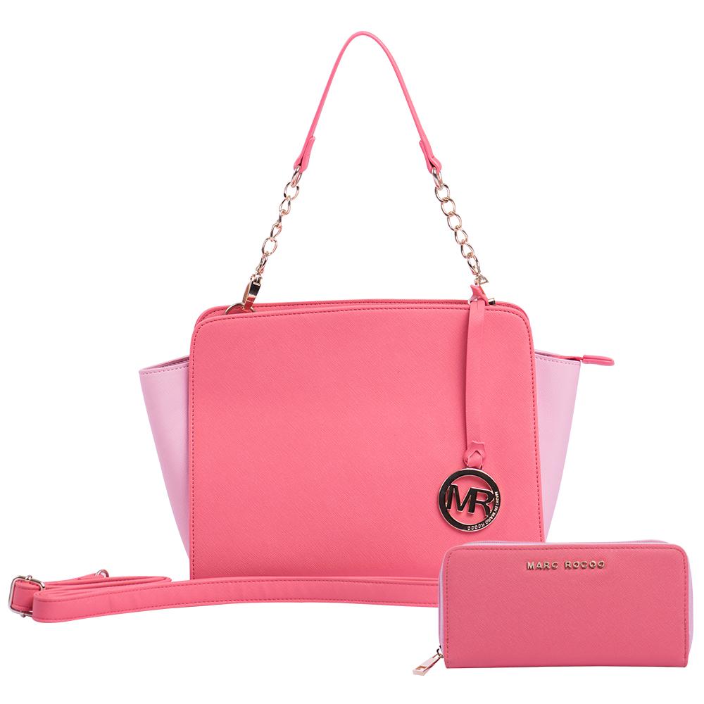 MARC ROCOO 法式摩登女郎城市漫步包2件組-桃粉色