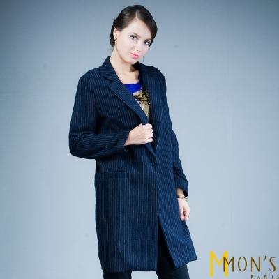 MONS-棉料條紋西裝外套-共二色