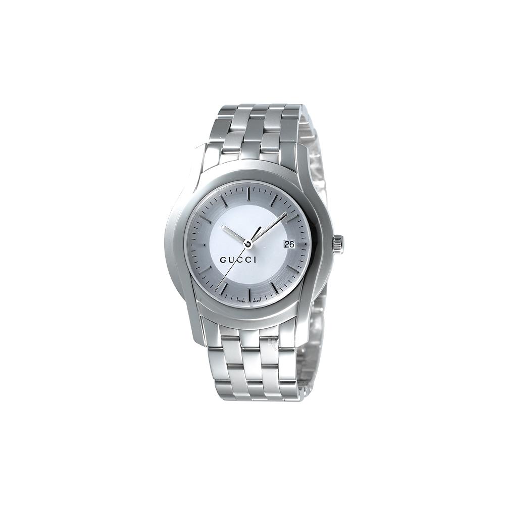 GUCCI G-Class 都會經典時尚腕錶-銀白/38mm