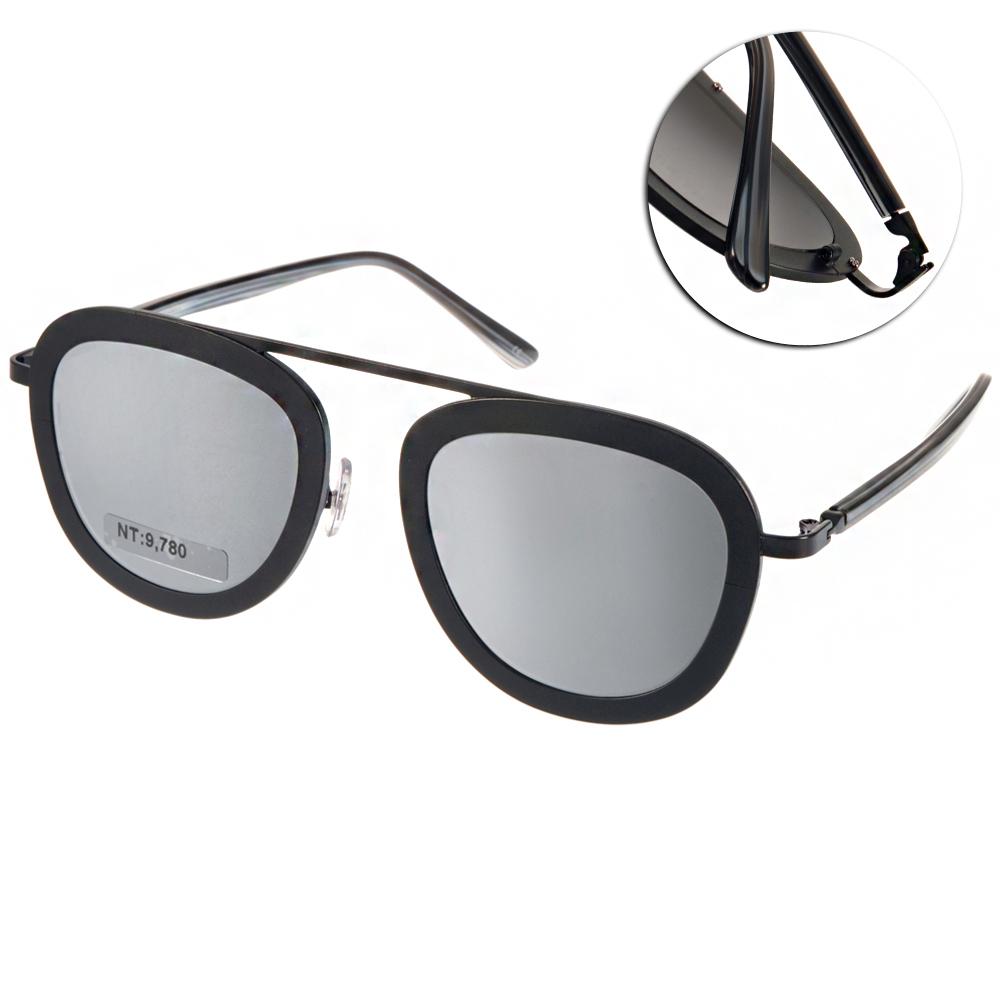 STEALER太陽眼鏡 個性飛官款/黑-白水銀#SLKARMA C01M