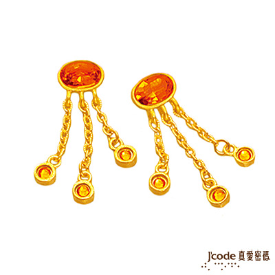 J'code真愛密碼 富貴牡丹純金耳環 約0.7錢