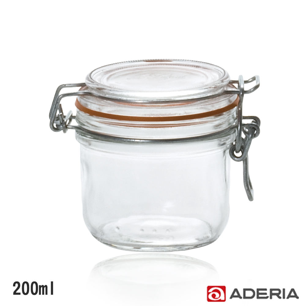 ADERIA 日本進口扣式密封玻璃罐200ml
