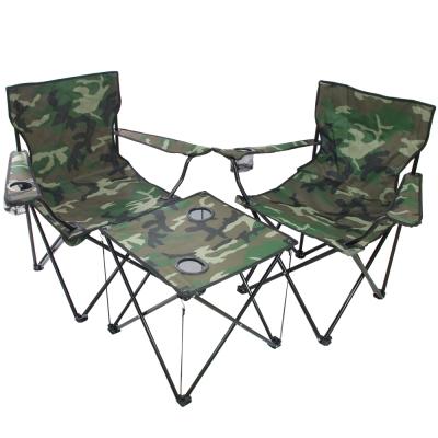 迷幻森林輕量摺疊桌椅組-一桌二椅
