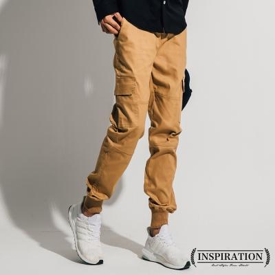 挺實螺紋縮口側邊大口袋束口褲-INSPIRATION