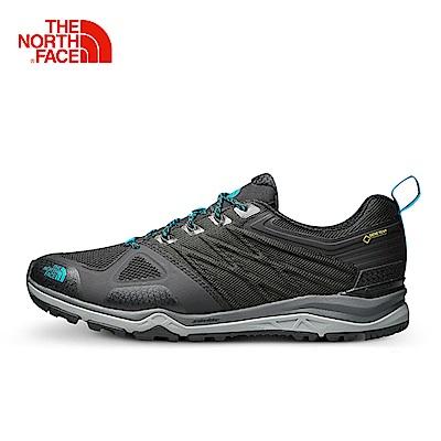 The North Face北面男款灰色緩衝穩定徒步鞋