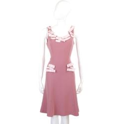 MOSCHINO 粉紅色立體蝴蝶結裝飾背心洋裝