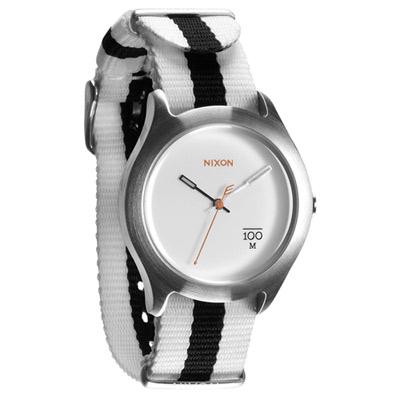 NIXON TIME TELLER P 拼裝潮流都會休閒腕錶-白/39mm