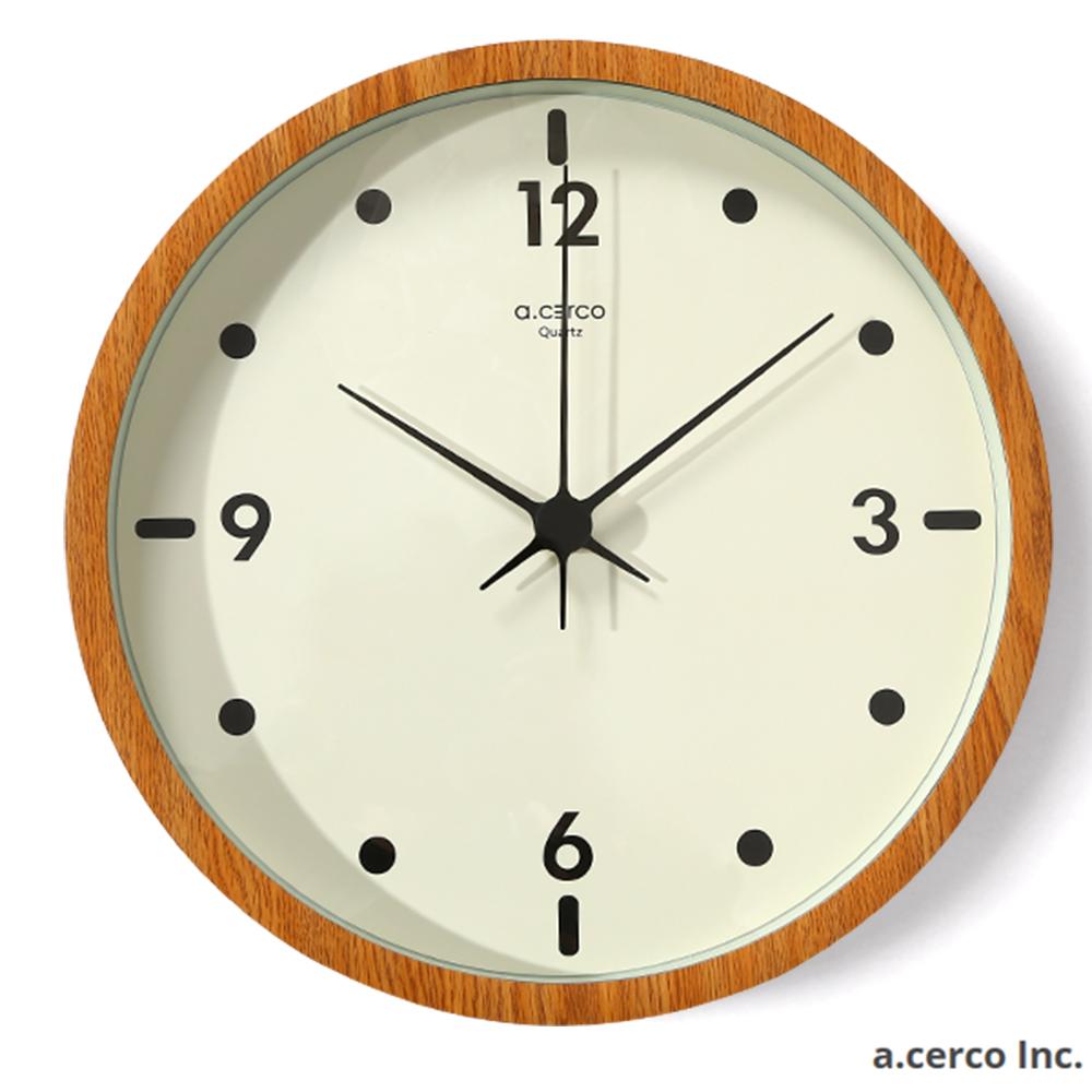 a.cerco Mooi 設計時鐘-橡木色