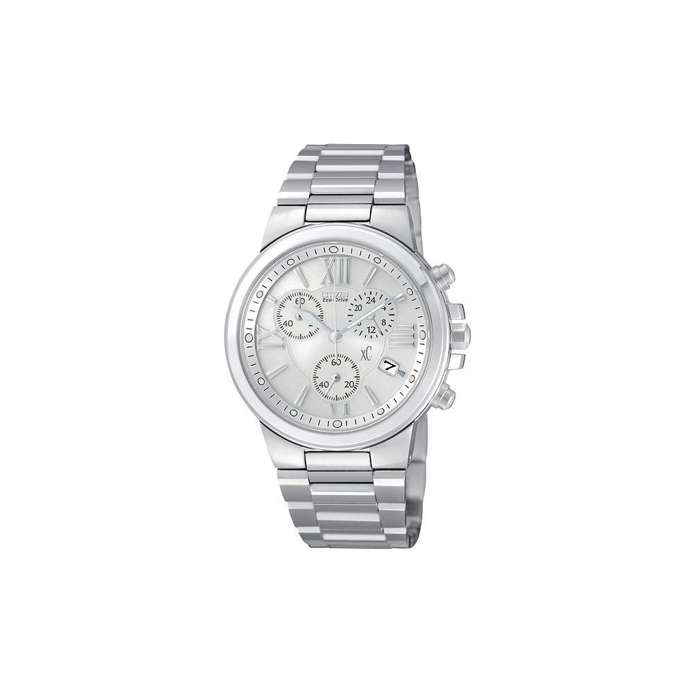 xC 戀愛物語光動能三環計時腕錶(AT0650-50A)-白/38mm