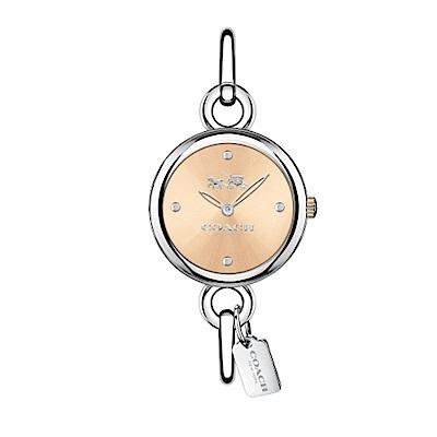 COACH 魅力流行時尚銀鐲腕錶/施華洛世奇晶鑽/14502688