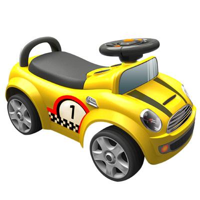 寶貝樂摩登賽車造型助步車-黃