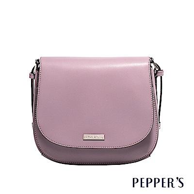 PEPPER`S Audrey 牛皮馬鞍包 -迷霧紫