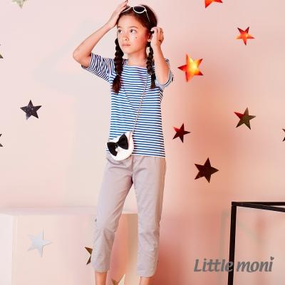 Little moni 休閒開岔彈性合身九分褲 (共4色)