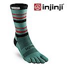【INJINJI】RUN 輕量吸排五趾中筒襪