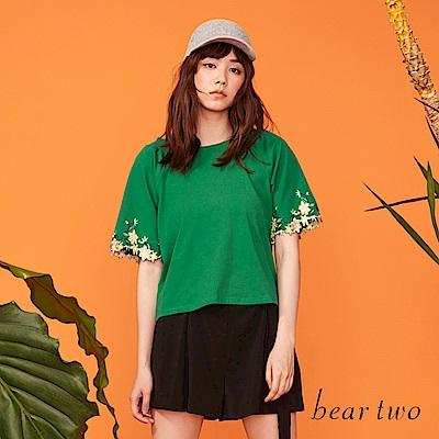 beartwo 柔美刺繡造型上衣(三色)