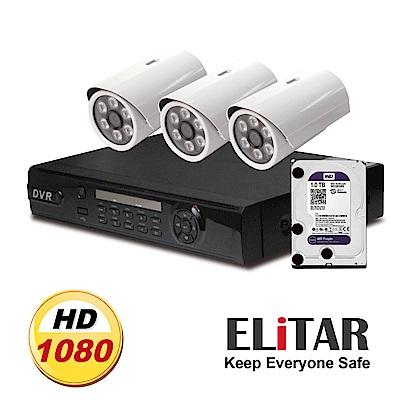 Elitar4路主機3鏡頭Seagate1TB組合