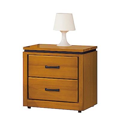 品家居 奧德莉1.7尺檜木實木床頭櫃-52x42x53cm-免組