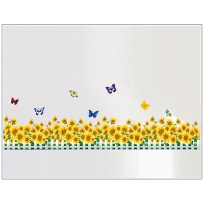 B-073花草系列-向日葵 大尺寸高級創意壁貼 / 牆貼
