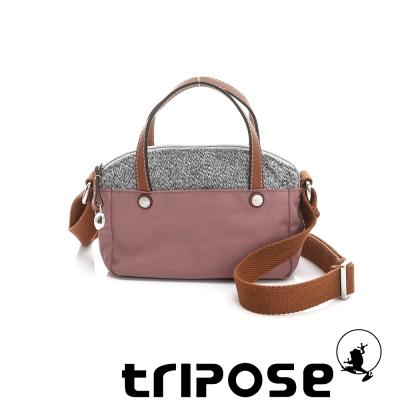 tripose 漫遊系列岩紋玩色兩用手提背包(小) 粉膚