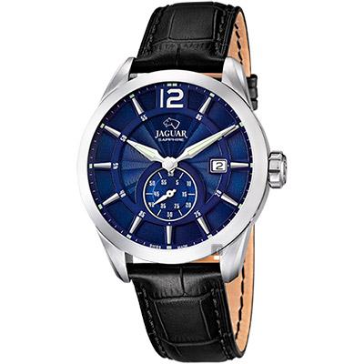JAGUAR ACAMAR 經典小秒針手錶-藍x黑/43mm