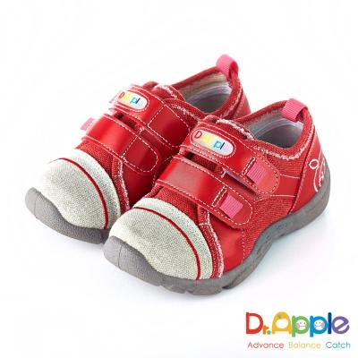 Dr. Apple 機能童鞋 MIT微笑蘋果帥氣牛仔童鞋款 紅