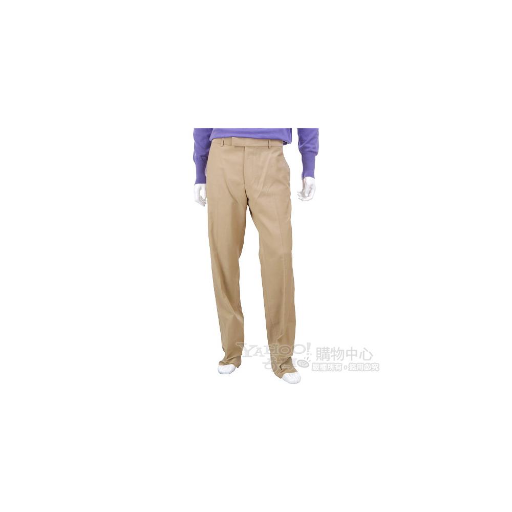 BOSS 駝色立體條紋休閒長褲