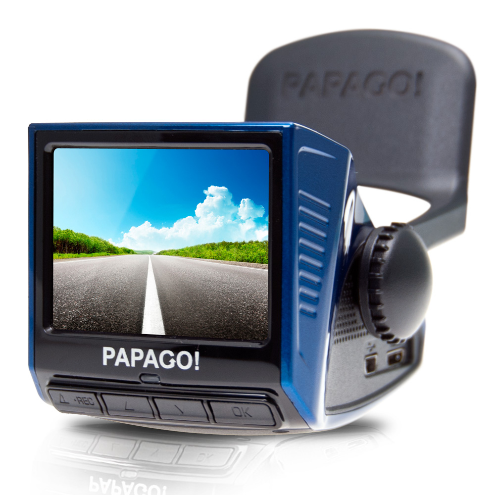 PAPAGO! P3 車道偏離/車距警示 行車記錄器 - 時尚藍-快