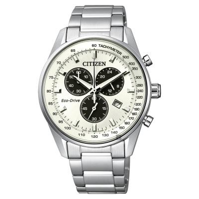 CITIZEN星辰 Eco-Drive 光動能計時手錶-銀/40mm
