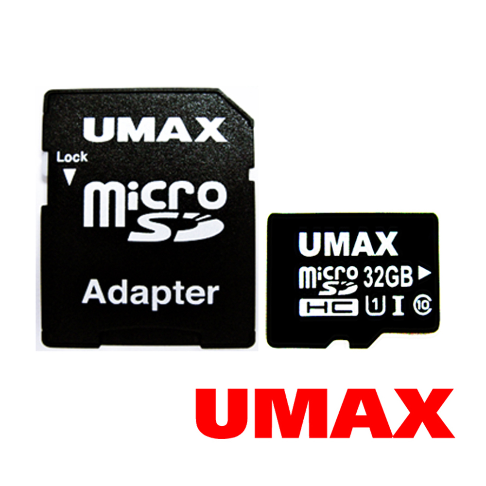 UMAX MicroSDHC UHS-I 32GB Class10 記憶卡(含轉接卡)