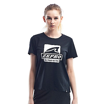 【ZEPRO】女子做自己休閒棉T-活性黑