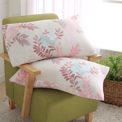 羽織美 熱帶雨林 天絲涼爽AB版美式枕套2入